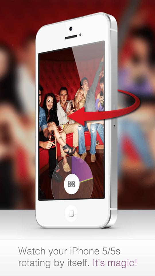 自立したiPhoneが360°回転してパノラマ写真を撮ってくれるアプリTwister【@Naruki】