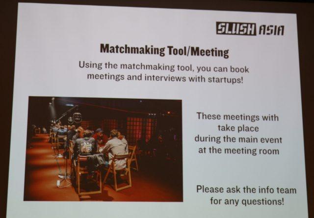 slush asia matchmaking