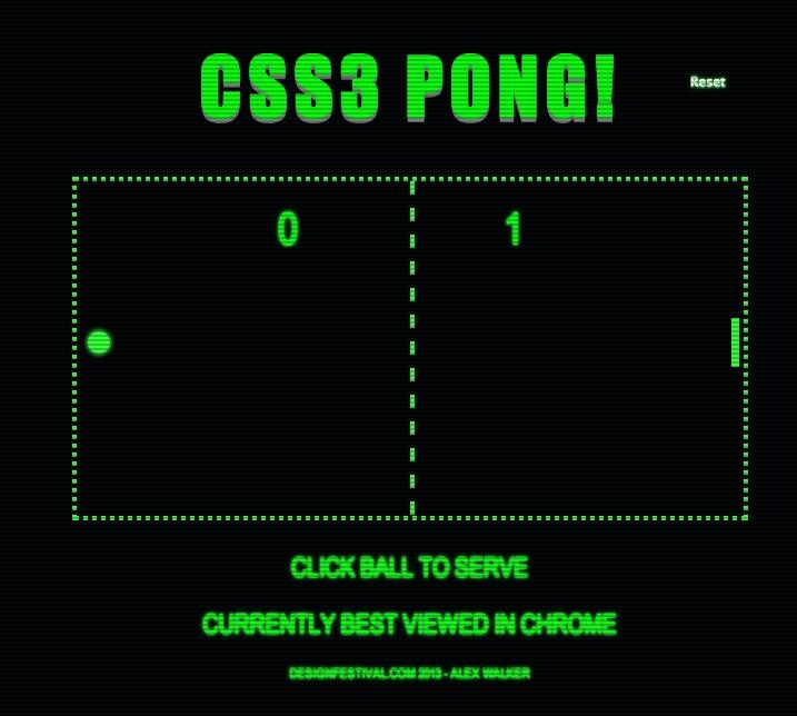 ありえない。CSS3だけで作った脅威のPONG  【増田 @maskin】