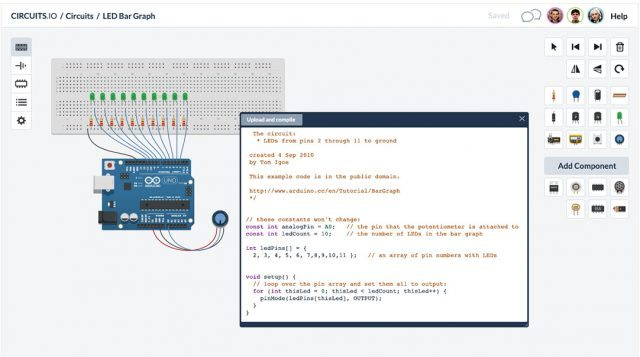 Circuits.io 回路設計からArduino上のシミュレーション、基盤オーダーまでできる新サービスを公開【増田 @maskin】