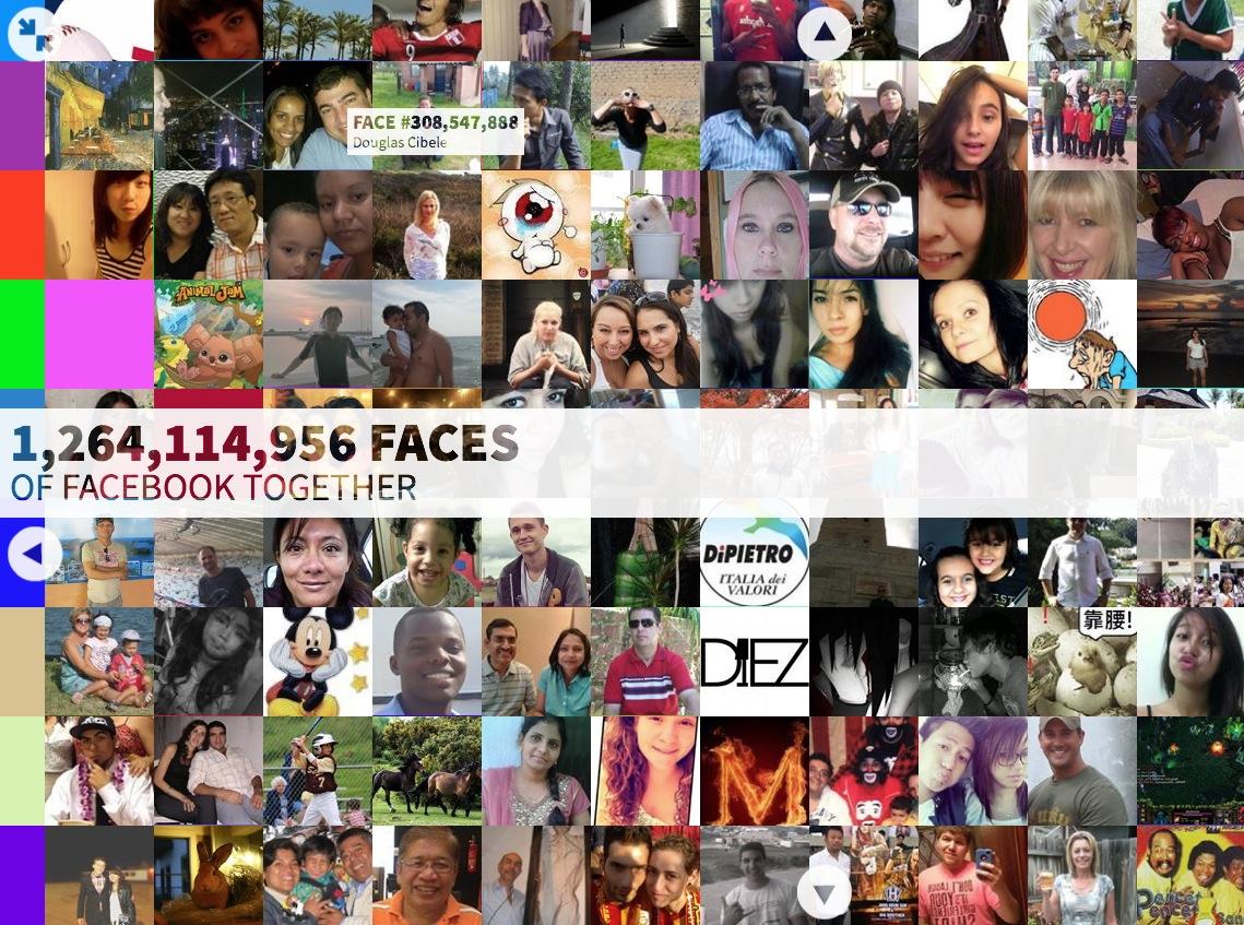 あなたは何番目? Facebookユーザー12億分の顔写真を時系列にブラウズ【増田 @maskin】