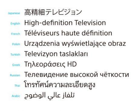 ソニー、93言語に対応した「SSTフォント」を独自開発  【@maskin】