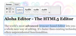 ブラウザで見たままテキスト編集ができる組み込み型HTML5エディタ「AlohaEditor」 【@maskin】