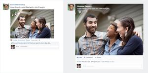 Facebookがニュースフィードを刷新、写真が大きく音楽共有も  【増田 @maskin】