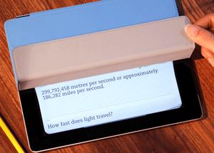 「お風呂のフタ」カバー利用したiPadアプリ Evernoteから【湯川】
