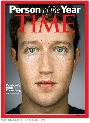 米Time誌「今年の人」にFacebookのZuckerberg氏【湯川】