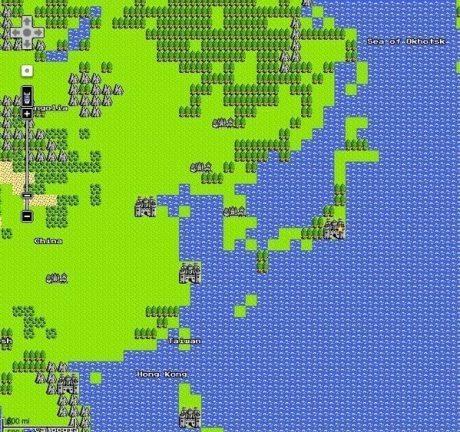 「ぼうけんをはじめる」 Google Mapがドラクエ仕様に→既に世界征服完了されていたようです 【増田(@maskin)真樹】