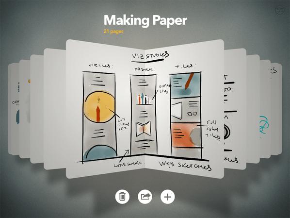 """FiftyThreeの「PAPER」はあらゆる意味でiPadを """"紙""""にするアプリ 【増田(@maskin)真樹】"""