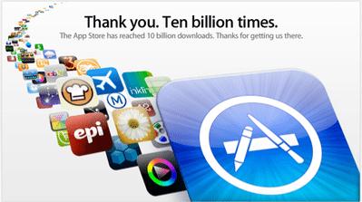 iPhoneなど向けアプリ100億ダウンロード達成【湯川】