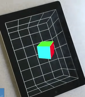 iPad2の前面カメラをセンサーに視野角を計算し、メガネ不要の3Dを実現【湯川】