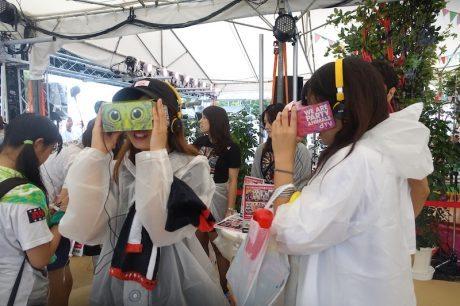 「dTV VR」a-nationの会場で大規模なVR体験会を開催、アプリは10万ダウンロード突破
