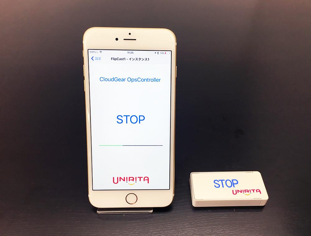 「業務終了」プレートを裏返すとシステム終了→自動バックアップ、FlipCastで実現