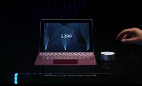 399米ドルから購入可能なSurface Go、522gの10インチポータブルデバイス