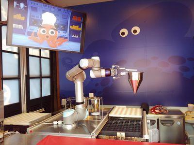 AIロボットと人が協働する たこ焼き店「OctoChef(オクトシェフ)」