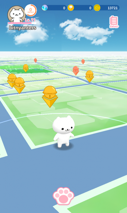 位置情報ゲーム×仮想通貨「ビットにゃんたーず」のフィールドテスト展開中