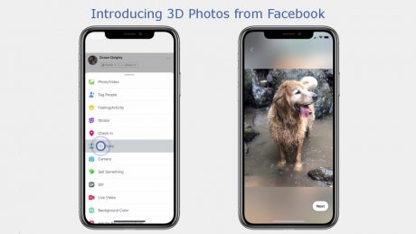 Facebookが3D写真機能を順次公開、デュアルレンズ搭載のスマホで撮影