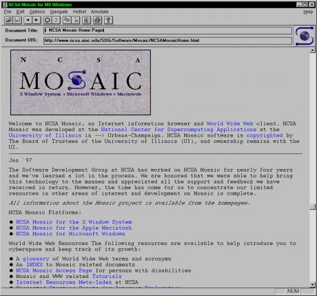 世界初のウェブブラウザ「NCSA Mosaic」誕生から25年