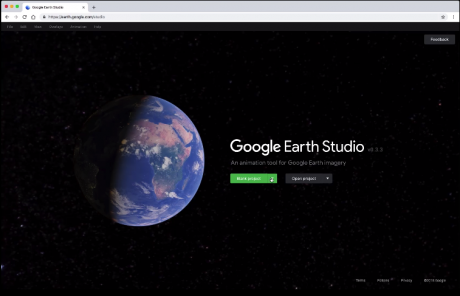 Google Earth Studio、衛星画像と3Dモデルで空撮動画を作れるツール