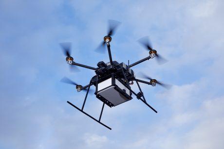 福岡市上空で自律型ドローン配送の実証実験