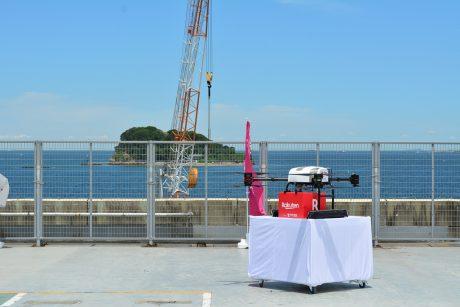楽天と西友、日本発のドローン商業輸送サービスを夏に開始、離島にBBQ食材などを一日8回