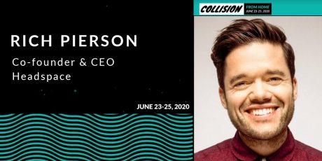 """北米テックカンファレンス""""コリジョン"""":ヘルステックスタートアップ""""Headspace""""の 共同創始者兼CEOリッチ・ピアソン登壇決定"""